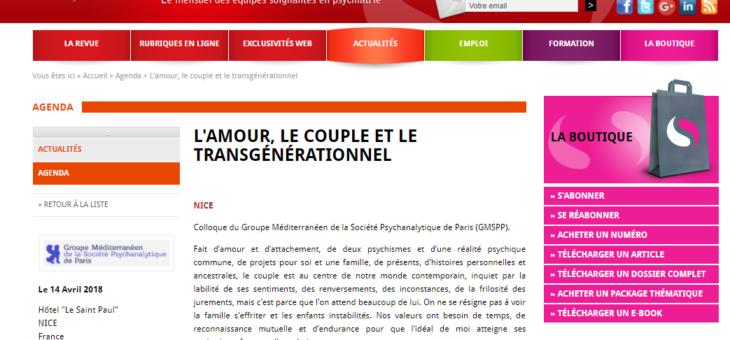 Amour, couple et transgénérationnel.