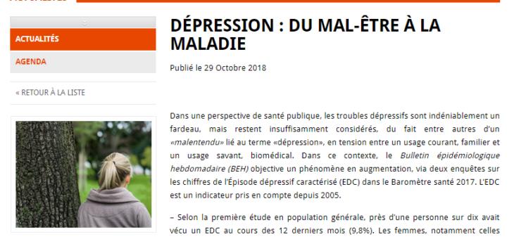 Trouble dépressif : du mal-être à la maladie.