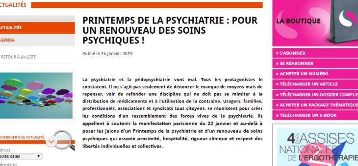 Psychiatrie et pédopsychiatrie.